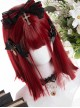 Wine Red Gothic Lolita Short Straight Wigs
