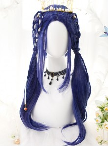 Royal Blue Long Straight Wig Classic Lolita Wigs