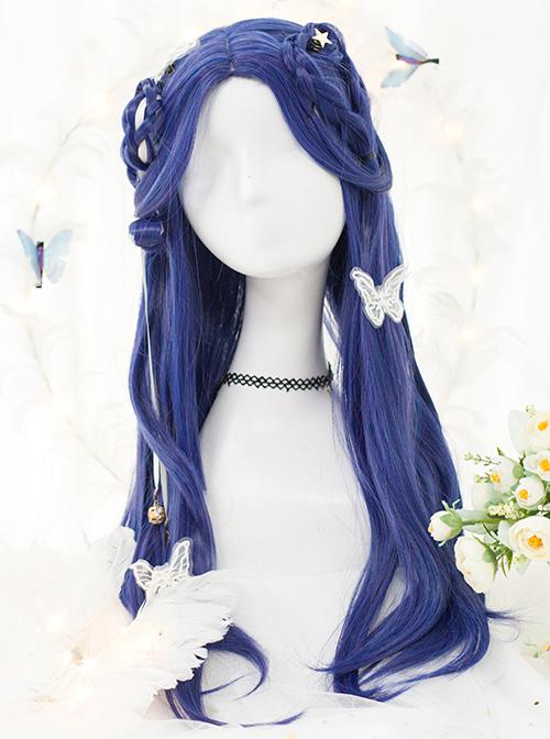 Royal Blue Long Straight Wig Classic Lolita Wigs