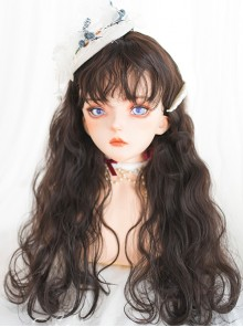 Cute Doll Brown Long Curly Wig Classic Lolita Wigs