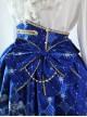 Lolita classic Pegasus deep blue Phnom Penh bowknot decorative skirt