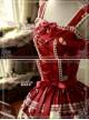 Sweet Christmas Series Printed Lace Red Lolita Sleeveless Dress