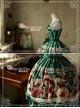 Sweet Christmas Series Printed Lace Green Lolita Sleeveless Dress