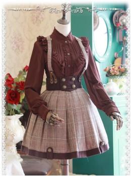 Baker Street Dense Fog Series Khaki Detective style Lolita Skirt