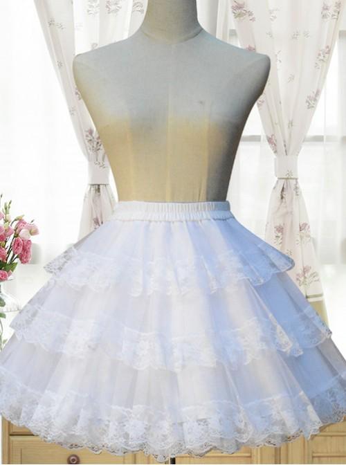 Cotton White Lining Voile Lolita Skirt