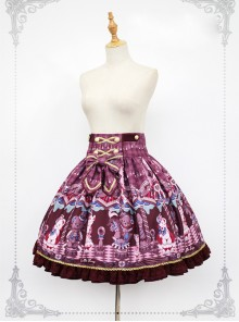 Chocolate Bears Chess Sweet Lolita Skirt