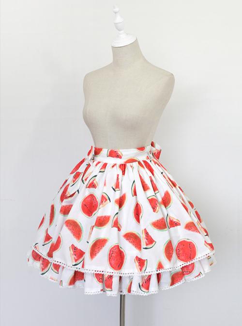 Neverland Cool Watermelons Series Watermelon Printing Lolita Skirt