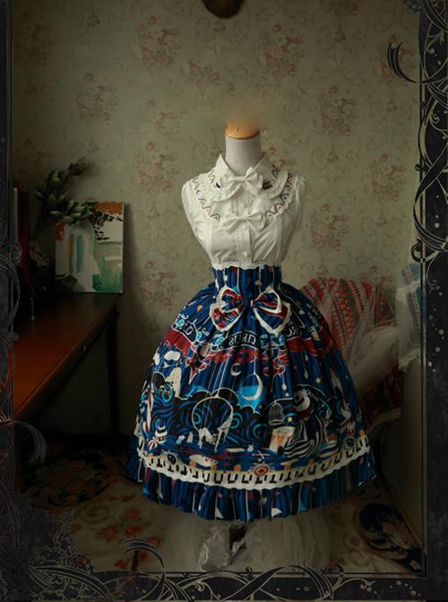 Magic Tea Party Circus Maiden Series Printing Lace Sweet Lolita Skirt