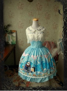 Magic Tea Party Circus Maiden Series Printing Sweet Lolita Skirt