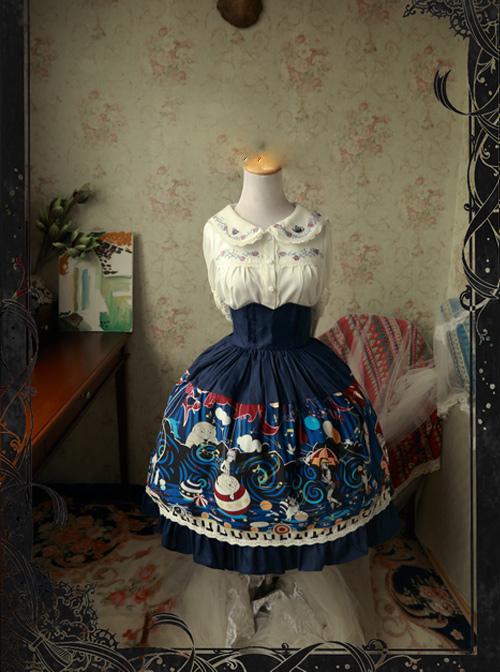 Magic Tea Party Circus Maiden Series Printing Sweet Lolita Skirt