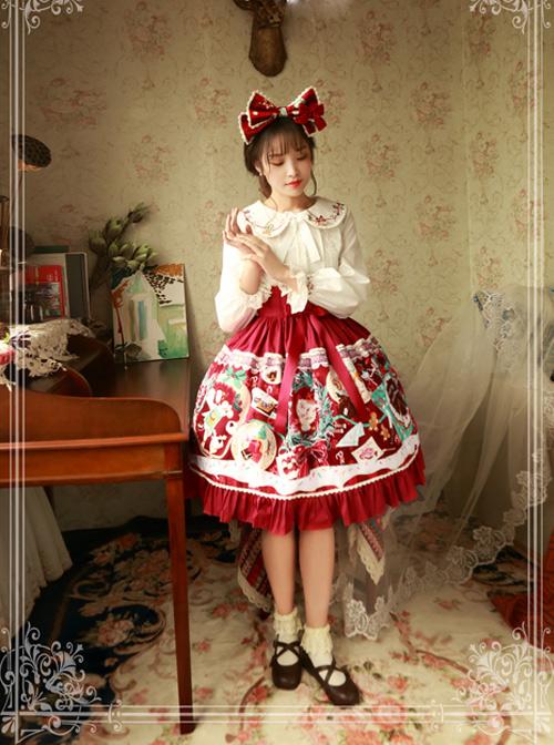 Magic Tea Party Sweet Christmas Series Printing Sweet Lolita Skirt