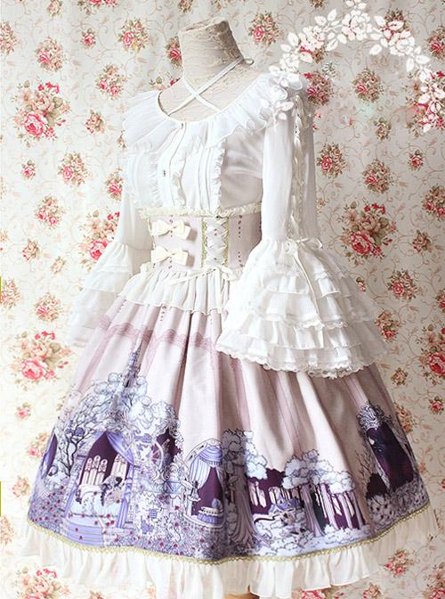 Sleeping Beauty Series Ivory Color High Waist Classic Lolita Skirt