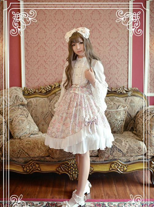 Antique Clock Series Ordinary Waist Classic Lolita Skirt