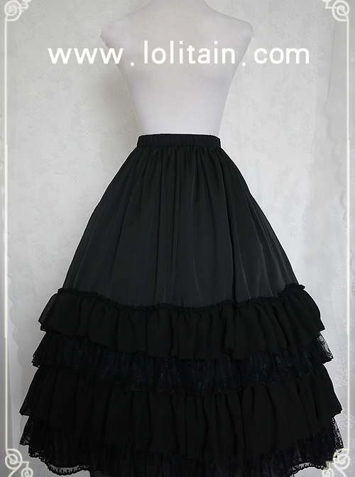 Spring Sonata Series Classic Lolita Skirt Long Petticoat