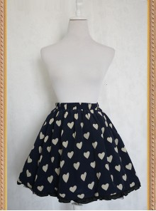 The Queen Of Hearts Series Heart-shaped Pattern Chiffon Lolita Skirt