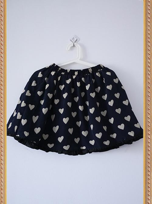 The Queen Of Hearts Series Heart-shaped Pattern Chiffon Lolita Skirt