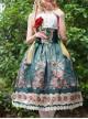 Surface Spell- Alps Rose Series High Waist Fish-bone Classic Lolita Skirt