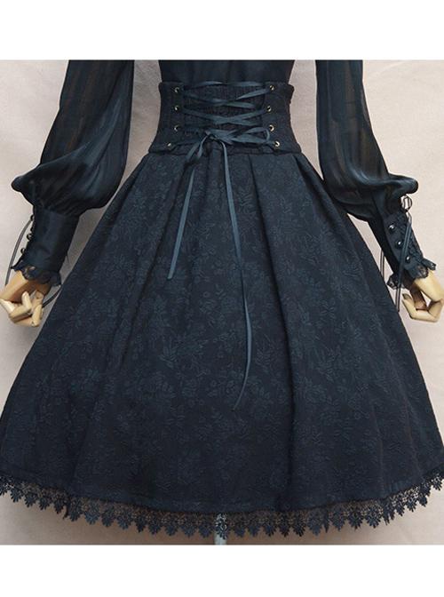 Elegance Jacquard High Waist Lolita Skirt