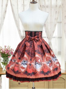 Fairy Princess Printing Little High Waist Classic Lolita Skirt