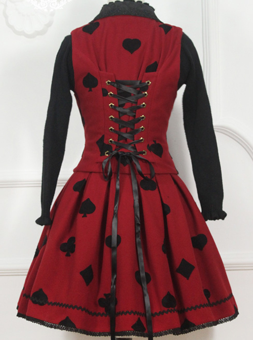 Retro Fairy Tale Embroidery Lolita Vest And Skirt Set