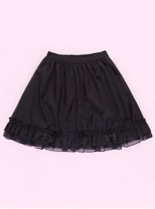 Miss Rabbit Series Pure Color Lolita Short Skirt
