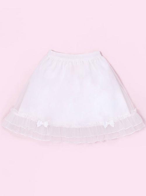 Miss Rabbit Series Pure Color Lolita Short Skirt