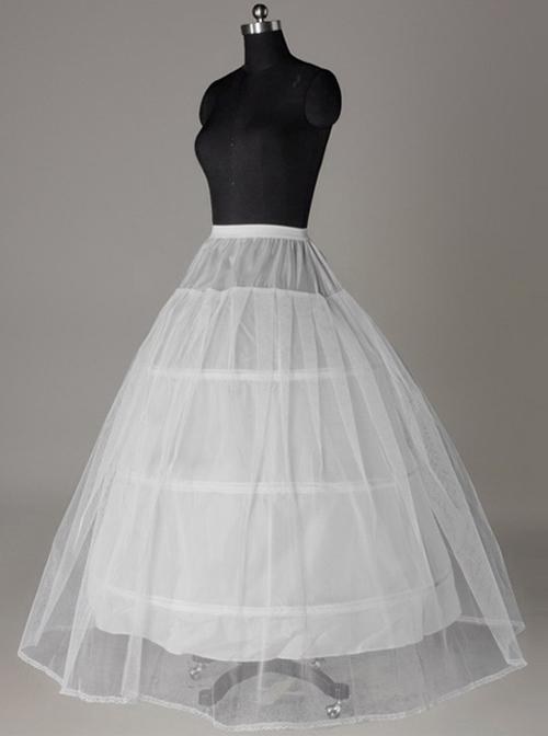 Wedding Dress Petticoat Lace Hard Net Lolita Long Petticoat