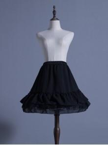Black Chiffon Lolita Fish-bone A-line Petticoat