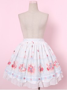 Donut Rabbit Printing Sweet Lolita Skirt