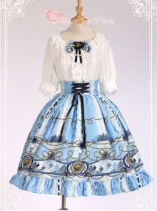 Magic Tea Party Angel Fish Series High Waist Classic Lolita Skirt