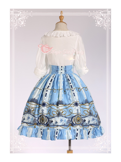 Magic Tea Party Angel Fish Series High Waist Classic Lolita Skirt