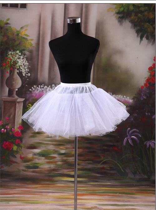 Bridal Dress Fluffy White Sweet Lolita Dress Petticoat