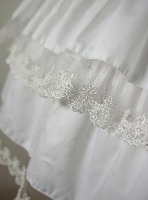 Cake Skirt White Lace Lolita Dress Petticoat