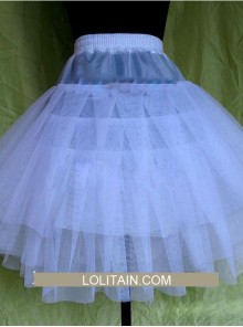 Sweet White Three Layer Yarn Lolita Dress Petticoat