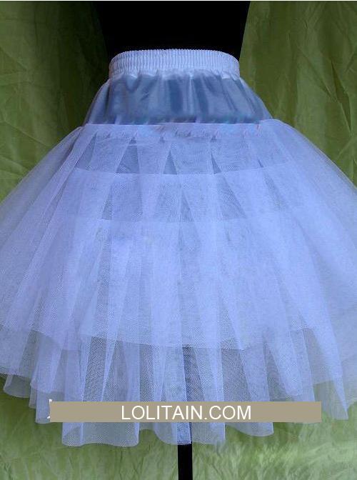 Sweet White Three Layer Yarn Lolita Dress Petticoat