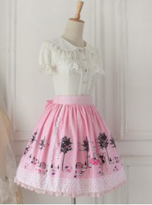 Pussy Afternoon Tea Series Pink Sweet Lolita Skirt