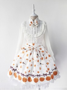 Fashion Paris Tower And Biscuit Series Printing Sweet Lolita Skirt