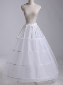White Petticoat Enlarge Lolita Long Dress Bracing