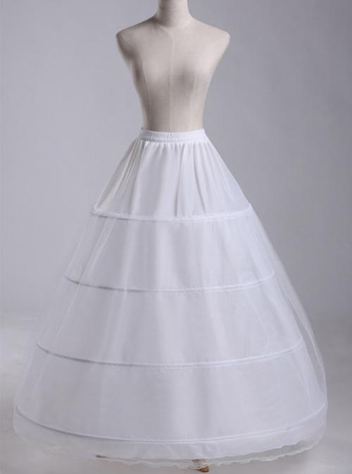 White Petticoat Enlarge Lolita Long Dress Bracing