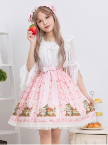Bowknot Lace Strawberry Jam Sweet Lolita Skirt