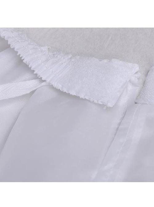 Cotton Steel Ring Lolita White Long Petticoat Custom Made
