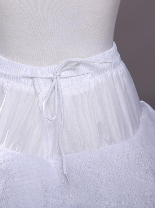 White Big Wedding Dress Trailing Style Petticoat