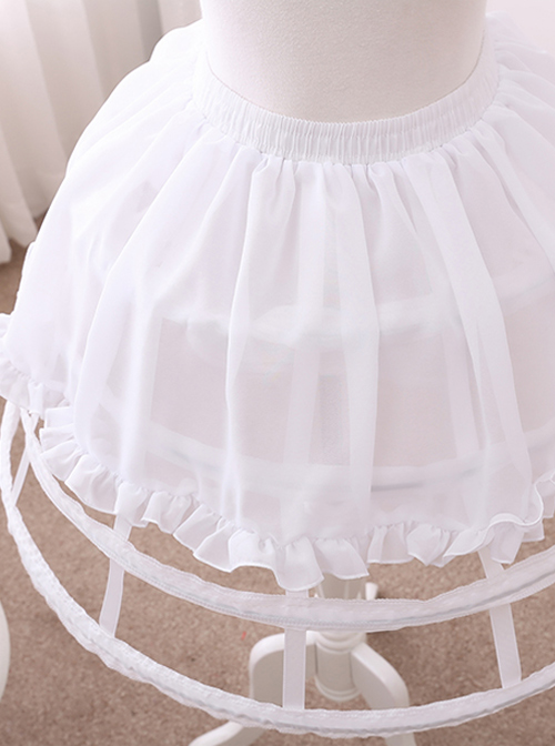 Fish-bone Lolita Four Layers Birdcage Style Skirt Brace