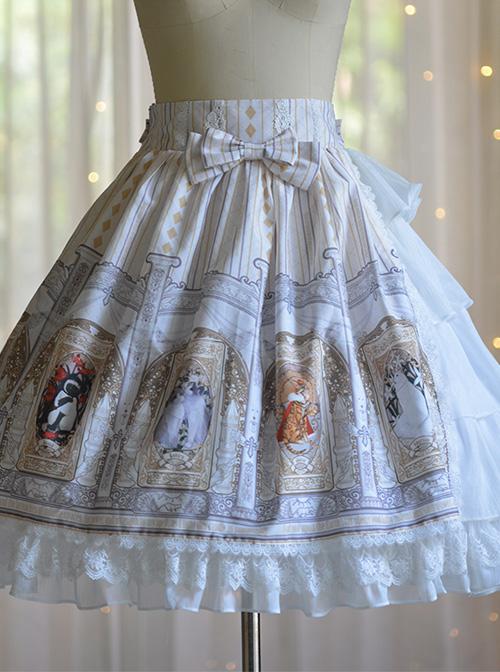 Cat Tarot Series Ruffle Classic Lolita Skirt