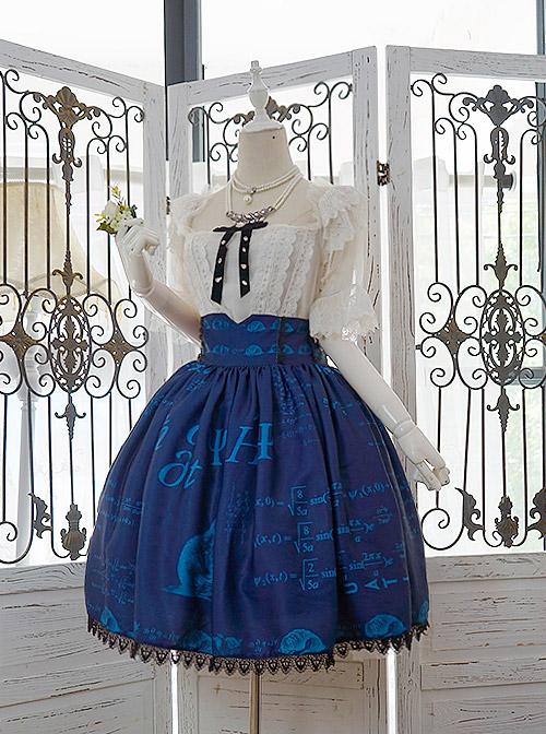 Schrodinger's Cat Series Lace Edge High Waist Classic Lolita Skirt