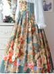 Retro Elegant Flowers Printing Classic Lolita Skirt
