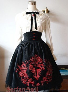 Judgment Day Series Gorgeous Embroidery Classic Lolita Skirt