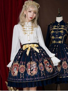 Fog-moon And Crown Series Elegance Classic Lolita Skirt