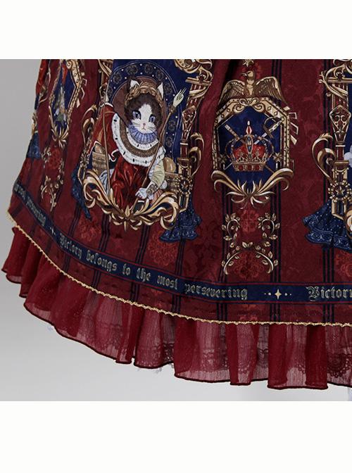 Fog-moon And Crown Series Elegance Classic Lolita Skirt