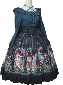 Alice's Christmas Series SK Classic Lolita Black Skirt